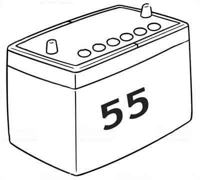 Аккумуляторы 55 а/ч