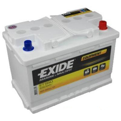 Аккумулятор EXIDE Exide Equipment ET 550 (80 A/h), 460A R+